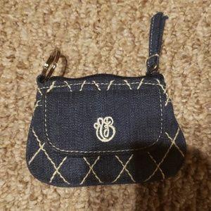 Vera Bradley  denim change purse